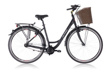Ortler Monet Stadsfiets Dames Damen, black matte zwart
